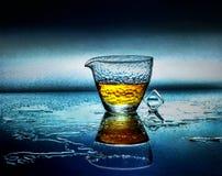 Immagine astratta di un vetro di vino Immagini Stock