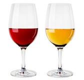 Immagine astratta di un vetro di vino Fotografia Stock Libera da Diritti