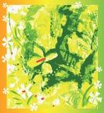 Immagine astratta di vettore dei fiori e delle foglie illustrazione di stock
