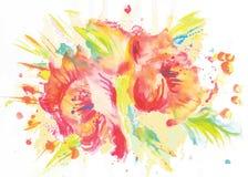 Immagine astratta di vettore dei fiori rossi illustrazione vettoriale