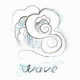 Immagine astratta di vettore dell'onda Fotografia Stock