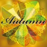 Immagine astratta di vettore delle foglie di autunno illustrazione vettoriale
