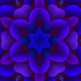 Immagine astratta floreale blu Fotografie Stock Libere da Diritti
