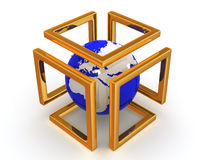 Immagine astratta. Sfera e simbolo dell'infinità Fotografia Stock Libera da Diritti