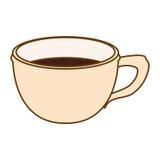 Immagine beige dell'icona del caffè della tazza Fotografie Stock