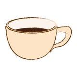 Immagine beige dell'icona del caffè della tazza Fotografia Stock Libera da Diritti