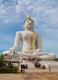 Immagine bianca del buddha Immagini Stock Libere da Diritti