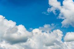 Immagine bianca del primo piano del cielo nuvoloso per fondo Fotografia Stock Libera da Diritti