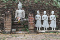 Immagine bianca di Buddha Fotografia Stock