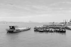Immagine in bianco e nero del terminale di traghetto di Xiaodeng immagine stock libera da diritti