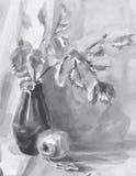 Immagine in bianco e nero di vettore della natura morta illustrazione vettoriale