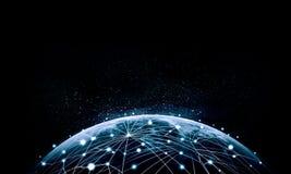 Immagine blu del globo Immagini Stock Libere da Diritti