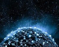 Immagine blu del globo Immagini Stock