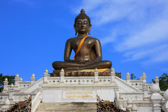 Immagine bronzea di Buddha del metallo Immagine Stock