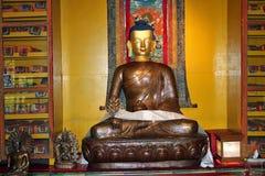 Immagine bronzea di Lord Gautama Buddha, Norbulingka Institute Immagini Stock
