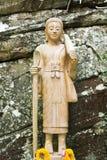 Immagine Buddha nella foresta Fotografie Stock Libere da Diritti