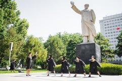 Immagine cinese 8 di graduazione dell'istituto universitario Fotografia Stock