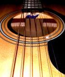 Immagine completa del hd della carta da parati della chitarra acustica Fotografia Stock Libera da Diritti