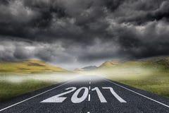 immagine composita 3D del buon anno 2017 Fotografie Stock