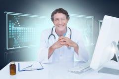 Immagine composita 3d del ritratto di medico felice Fotografia Stock Libera da Diritti