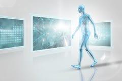 Immagine composita 3d dell'immagine di un corpo blu Fotografie Stock Libere da Diritti