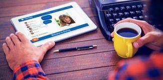 Immagine composita 3d dell'interfaccia dell'applicazione di chiacchierata Fotografia Stock
