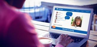 Immagine composita 3d dell'interfaccia dell'applicazione di chiacchierata Immagine Stock