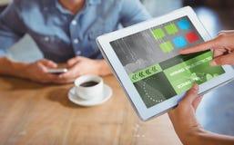 Immagine composita 3d dell'interfaccia di applicazione Immagine Stock Libera da Diritti