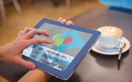 Immagine composita 3d dell'interfaccia di applicazione Fotografia Stock Libera da Diritti