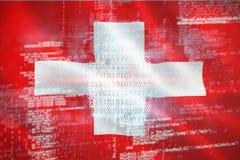 Immagine composita 3d della ricerca digitale del dito di sicurezza illustrazione di stock