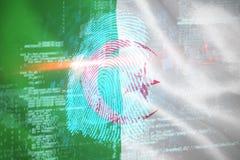 Immagine composita 3d della ricerca digitale del dito di sicurezza royalty illustrazione gratis