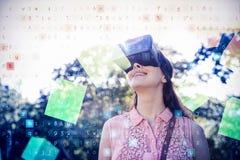 Immagine composita 3d di galleggiamento grigio digitalmente generato dei cubi Immagine Stock Libera da Diritti