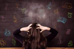 Immagine composita degli scarabocchi delle materie d'insegnamento Fotografia Stock Libera da Diritti