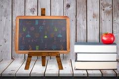 Immagine composita degli scarabocchi delle materie d'insegnamento Fotografia Stock