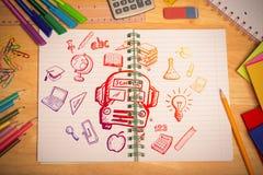 Immagine composita degli scarabocchi di istruzione Immagine Stock Libera da Diritti