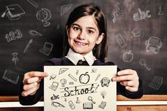 Immagine composita degli scarabocchi di istruzione Immagine Stock