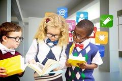 Immagine composita dei bambini della scuola Fotografie Stock Libere da Diritti