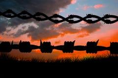 Immagine composita dei cavi a fondo bianco 3d Fotografie Stock Libere da Diritti