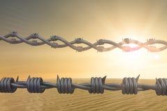Immagine composita dei cavi a fondo bianco 3d Fotografia Stock
