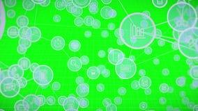 Immagine composita dei cerchi con il simbolo di affari illustrazione di stock