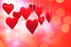 Immagine composita dei cuori 3d di amore Fotografie Stock Libere da Diritti