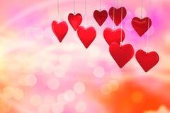 Immagine composita dei cuori 3d di amore Immagine Stock Libera da Diritti