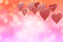 Immagine composita dei cuori 3d di amore Immagine Stock