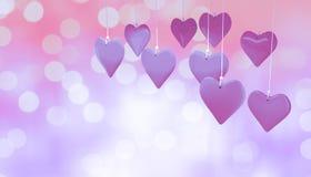 Immagine composita dei cuori 3d di amore Immagini Stock