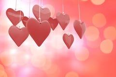 Immagine composita dei cuori 3d di amore Fotografie Stock