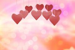 Immagine composita dei cuori 3d di amore Fotografia Stock