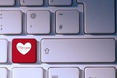 Immagine composita dei cuori di amore dei biglietti di S. Valentino Immagine Stock