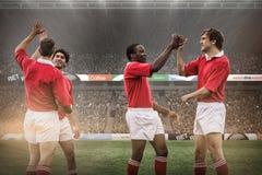 Immagine composita dei fan di rugby in arena Fotografie Stock Libere da Diritti