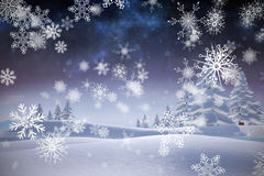 Immagine composita dei fiocchi di neve Fotografia Stock Libera da Diritti