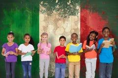 Immagine composita dei libri di lettura elementari degli allievi Fotografia Stock Libera da Diritti
